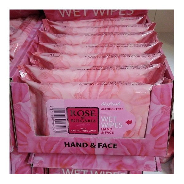 Wet wipes for face and hands